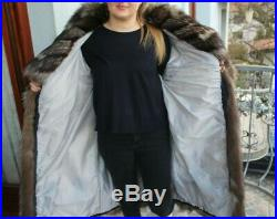 150$ OFF GORGEOUS SILVER FOX FUR COAT Jacket Class of Mink Lynx Chinchilla Sable