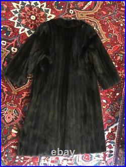 AUTHENTIC Vintage Galanos Neiman Marcus Natural Dark Brown Ranch Mink Fur Coat