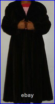 BLACKGLAMA 110 Swing Ranch Mink Fur Coat Size 4-6 Small EXCELLENT CON Free Ship