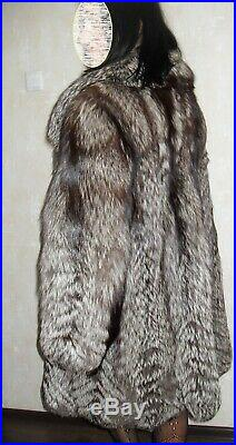 Beautiful real fur coat from silver fox (not a mink, not a sable)