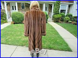 Breathtaking Plus Size Directional Sable Colored Mink Coat 2x-3x Maybe More