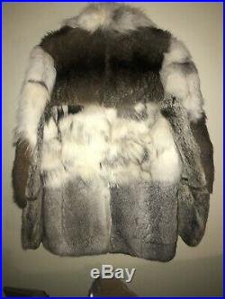 Drome Fur Mink Shearling Double Breasted Coat Jacket