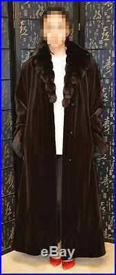 Final Sale! New&Top quality Sheared mink fur coat withchinchilla collar, sz16