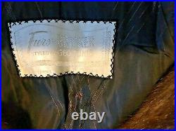 Fitch Mink Coat By Bicker Full Length Size Medium Very Chic Brown Fitch Mink