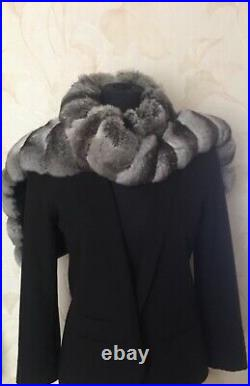 Fur Chinchilla Collar, Scarf, Wrap. Not MinkSableLynx. For a jacket or coat