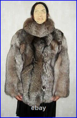 Fur coat made of natural silver fox fur (not sable, not mink)