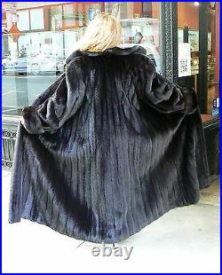 Givenchy 52 Ranch Mink Fur Swing Coat Size 12-16flawless$28k