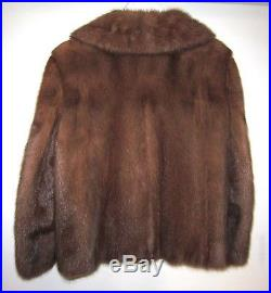 LUXURIOUS REAL MINK FUR Swing Coat JACKET Coffee Pastel 14 M Beautiful Condition