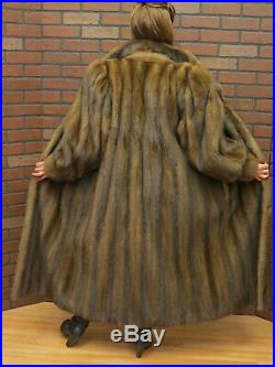 Ladies BROWN DEMI BUFF SABLE HUE lovely clean MINK FUR COAT md FREE SHIP