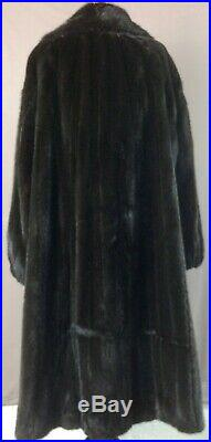 MIRROW'S FURS Plus Size- XL-Natural BLACKGLAMA Mink Classic ExC SHIPS FREE