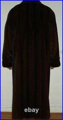 Men's 50 Long ADOLFO Mahogany Mink Fur Coat Size 42 EXCELL CONDIT Free Shipping