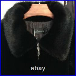 Men's Fashion 100% Real Mink Fur Jacket Coats Trench Parka Warm Thicken Outwear