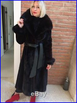 Mink Fur Coat withsable collar & cuffs