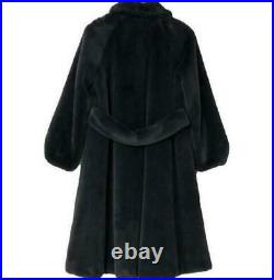 Mixed Real Winter Warm Mink Fur Mid Long Coat Women Oversize Thick Jacket Trench