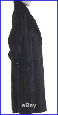 New! M! Super Handsome, Super Cool Blackglama Mink Fur Mens F/L Trench Coat