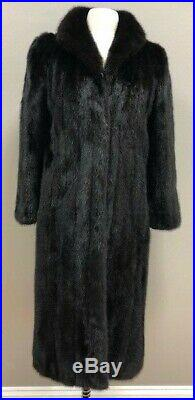 PERFECT Classic Ranch Black Mink Coat Size Small Size 4
