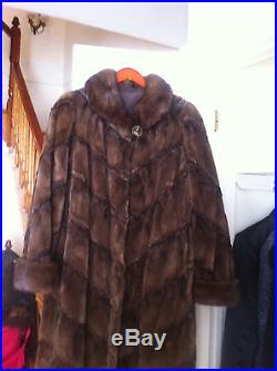 REAL SHEARED MINK FUR SWING COAT MADE CANADA SZ 10-12 equisite! Barely used
