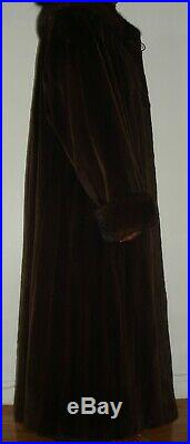 SAKS FIFTH AVENUE Brown Sheared Mink Fur Coat Size 12-14 FREE SHIP Excellent Con