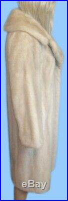 Size 6 or Small GENUINE PEARL MINK FUR COAT Amazing and Soft