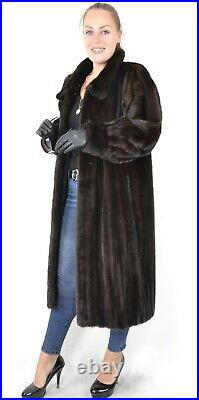 Us2703 Female Mink Fur Coat Full Lentgh Jacket Lightweight Size L Nerzmantel