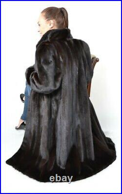 Us2827 Beautiful Saga Mink Fur Coat Lightweight Size XL -nerzmantel Pelliccia