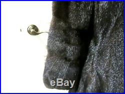 VINTAGE BROWN/BLACK MINK COAT With HORIZONTAL SLEEVES SIZE SMALL