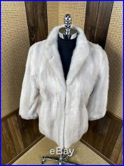 Vintage Frederick & Nelson Seattle Silver Mink Fur Coat Jacket Small 2 4