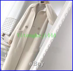 Womens Cashmere Mink Fur Loose Long Cardigan Coat Trench Outwear Jacket Size New